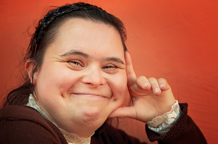 woman with down syndrome