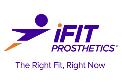 iFIT Prosthetics written out with The right fit, right now written underneath