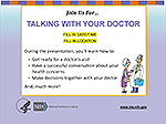 Talking With Your Doctor Presentation Toolkit flyer