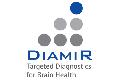 Dots in a descending order to signify DiamiR logo