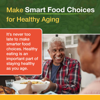 Image of Make Smart Food Choices for Healthy Aging infographic.