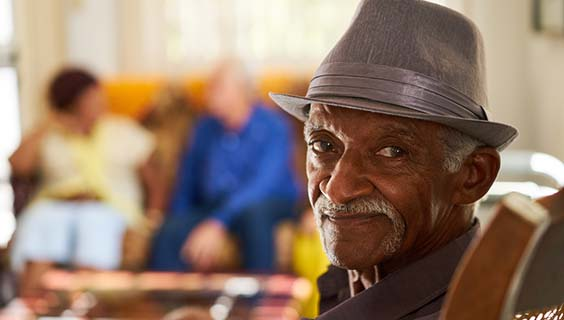 Older man in a nursing home