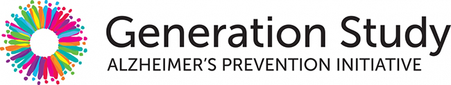 Logo for Generation study with multicolored circle