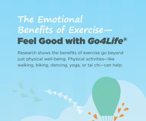 Emotional benefits of exercise infographic