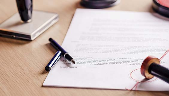 Notarized health and legal documents