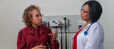 Clinical researcher with research participant