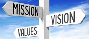Signpost - mission, vision, values