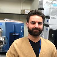 Dr. Anthony Domenichiello in the laboratory
