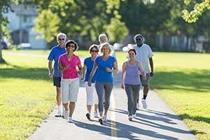 group of older adults walking