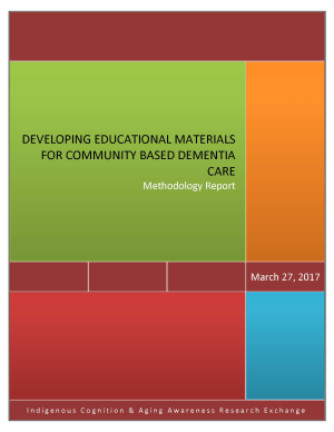 Developing educational materials for community based dementia care: methoology report