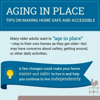 A portion of the Aging in Place infographic