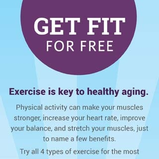 Get fit for free infographic thumbnail. Click through for more info.