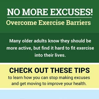 No More Excuses! Overcome Exercise Barriers. Click through for more info.