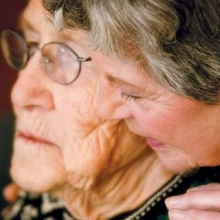 Older woman and her caregiver