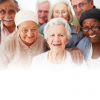 A diverse group of happy older adults that appear healthy.