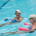Women doing water aerobics