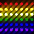 Multicolored LED lights