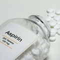 bottle of aspirin, 200 tablets, 100 mg on the label