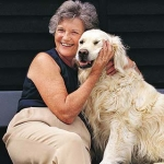 Woman with Alzheimer's and her dog