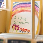"Cards in a hospital room saying ""I love Grandma"""