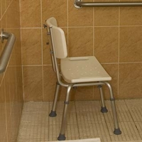 Shower chair and bathroom grab bars