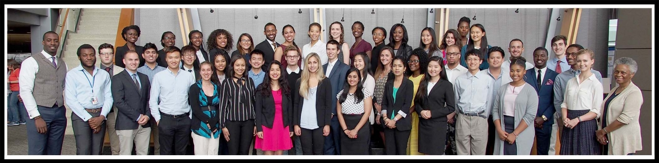 Class of 2017 with Dr. Torian Easterling (left), and Dr. Marie Bernard, Deputy Director, NIA (right).