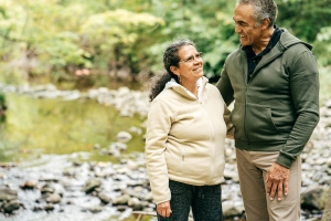A person with dementia and their spouse