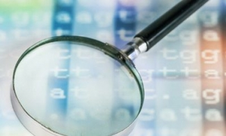 magnifying glass and genetics