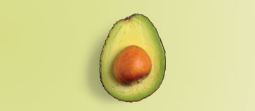 Half a medium avocado has three teaspoons of oil