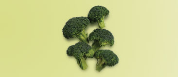 Five broccoli florets