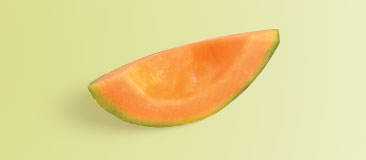 One-eighth of a medium cantaloupe