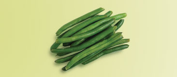 Half cup cooked green beans