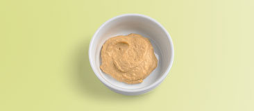Two tablespoons hummus